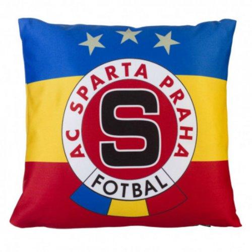 Polštářek Sparta trikolora logo