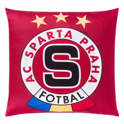 Polštářek Sparta rudý logo