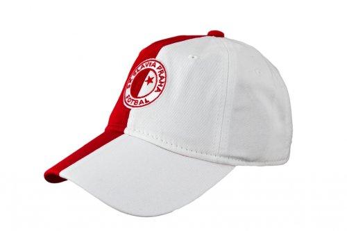 Čepice Slavie červenobílá-logo