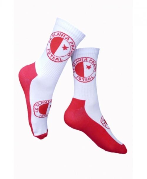 Ponožky Slavie červenobílé