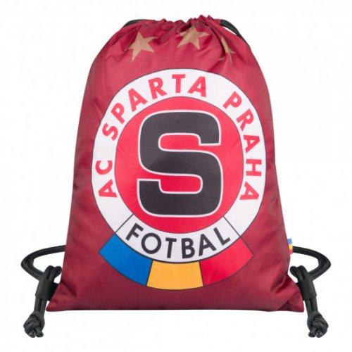 Sáček na obuv Sparta rudý-logo