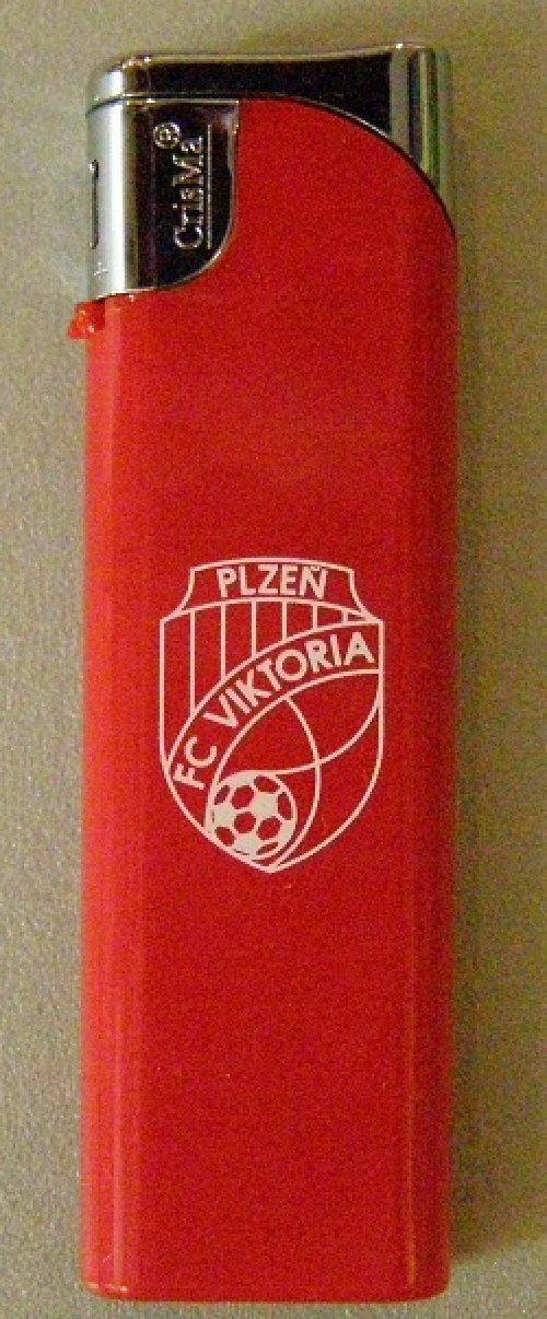 Zapalovač-červený Viktorie Plzeň