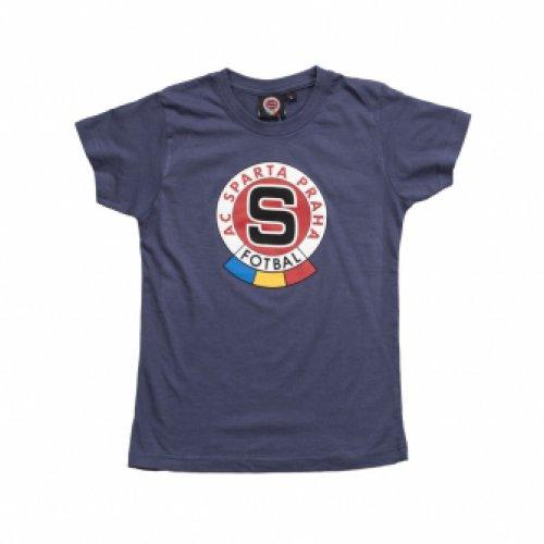 Triko Sparta dětské modré-denim logo