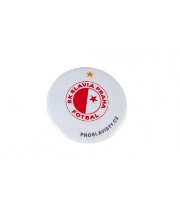 Placka Slavie logo-bílá
