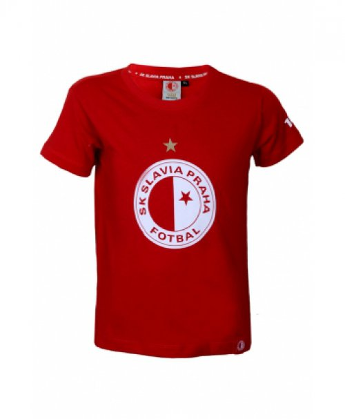 Triko Slavie červené-logo - dětské