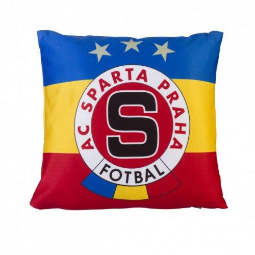 Polštářek Sparta trikolora logo - malý