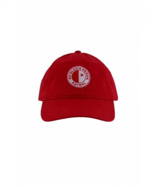 Kšiltovka červená logo Slavie Praha