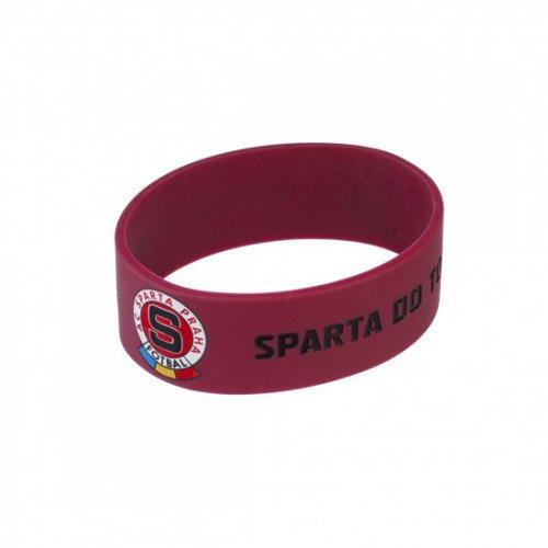 Náramek Sparta široký rudočerný
