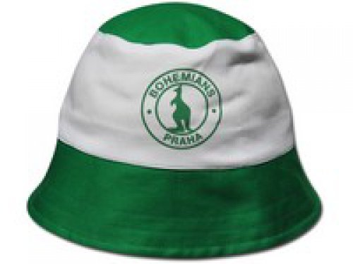 Klobouček Bohemians zelenobílý