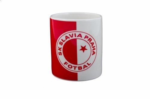Hrnek Slavia červenobílý
