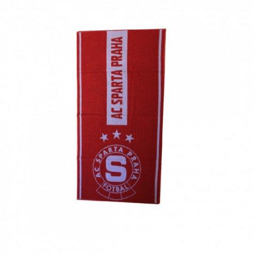 Ručník Sparta rudo-šedý logo